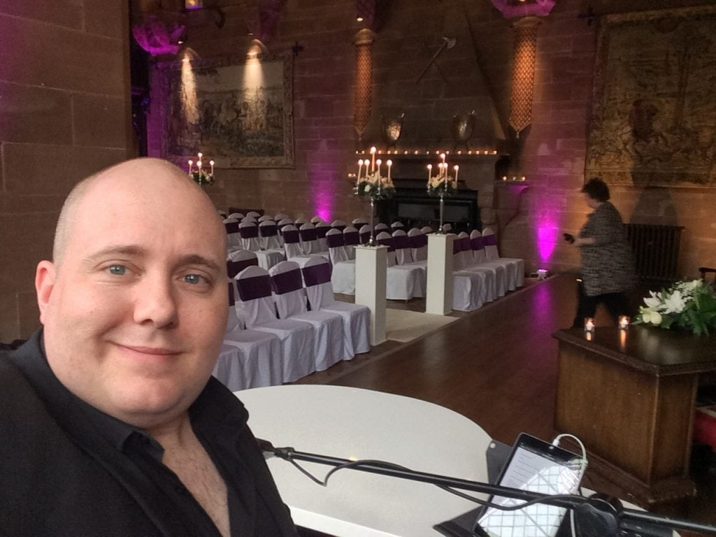 Peckforton Castle Wedding with Mark Hendry wedding singer and pianist