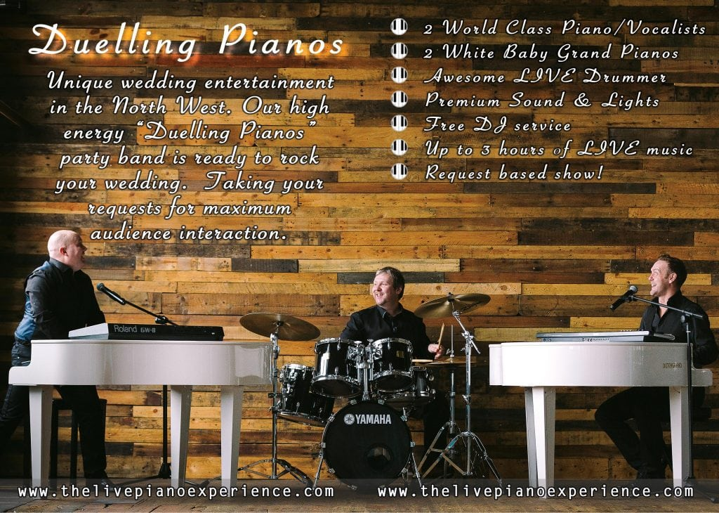 Duelling Pianos wedding band - Click for more
