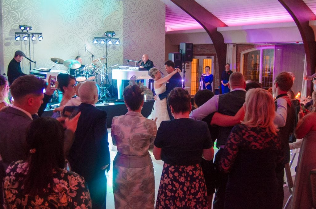 Duelling Pianos wedding at Colshaw Hall - the first dance LIVE for Mr and Mrs Byrne