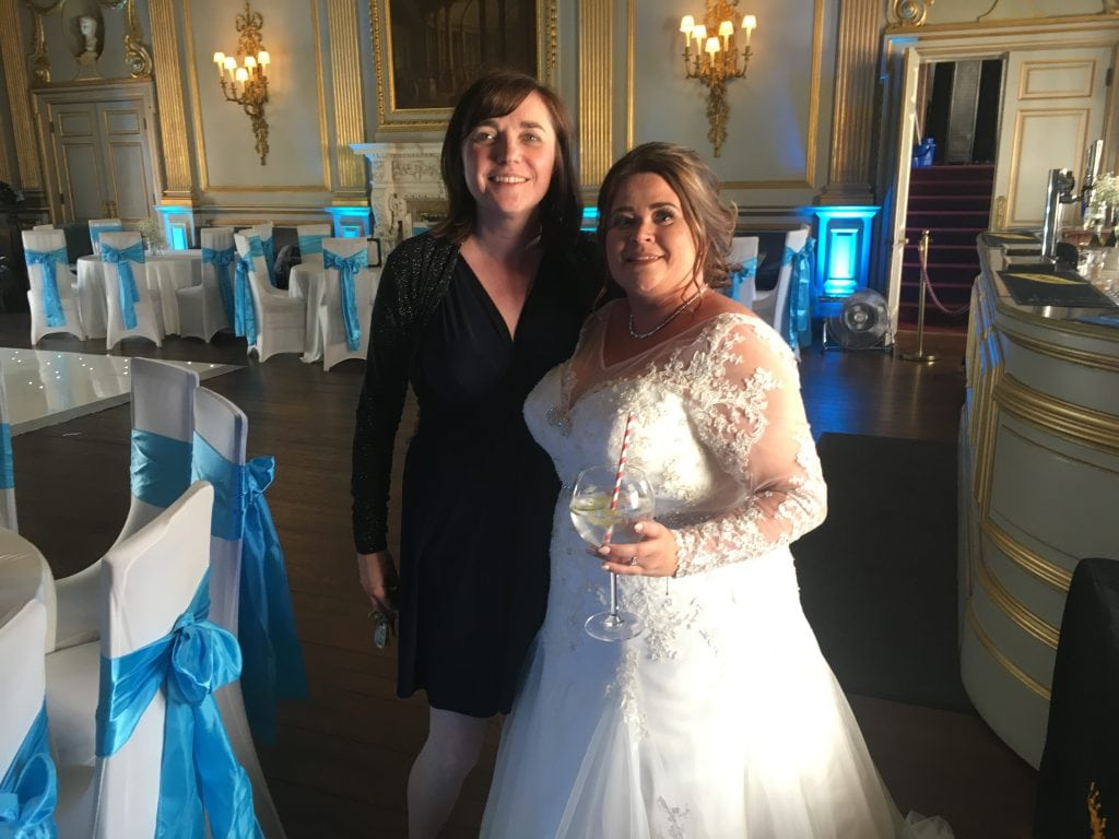 Liz Hendry with Clare Bennett at Knowsley Hall