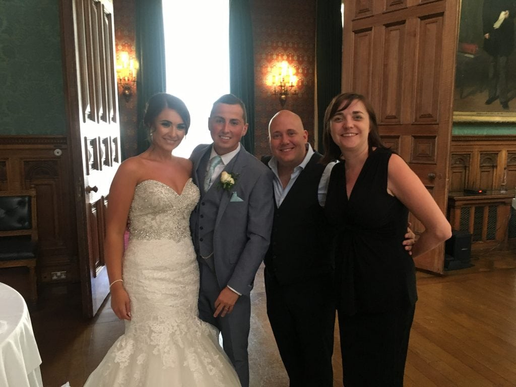 Mark the piano guy and Liz Hendry with Mr & Mrs Percival