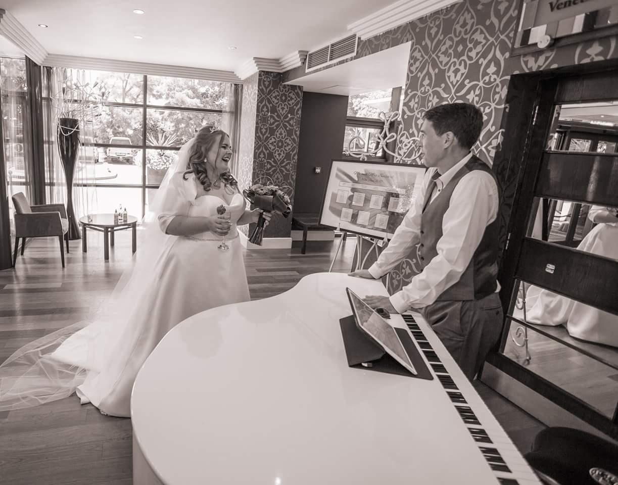 Craig Morgan Wedding Pianist and Mrs Benzeval