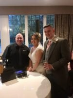 """Mark the piano guy"" with mr & Mrs Kirby-Richardson at Mere court hotel"