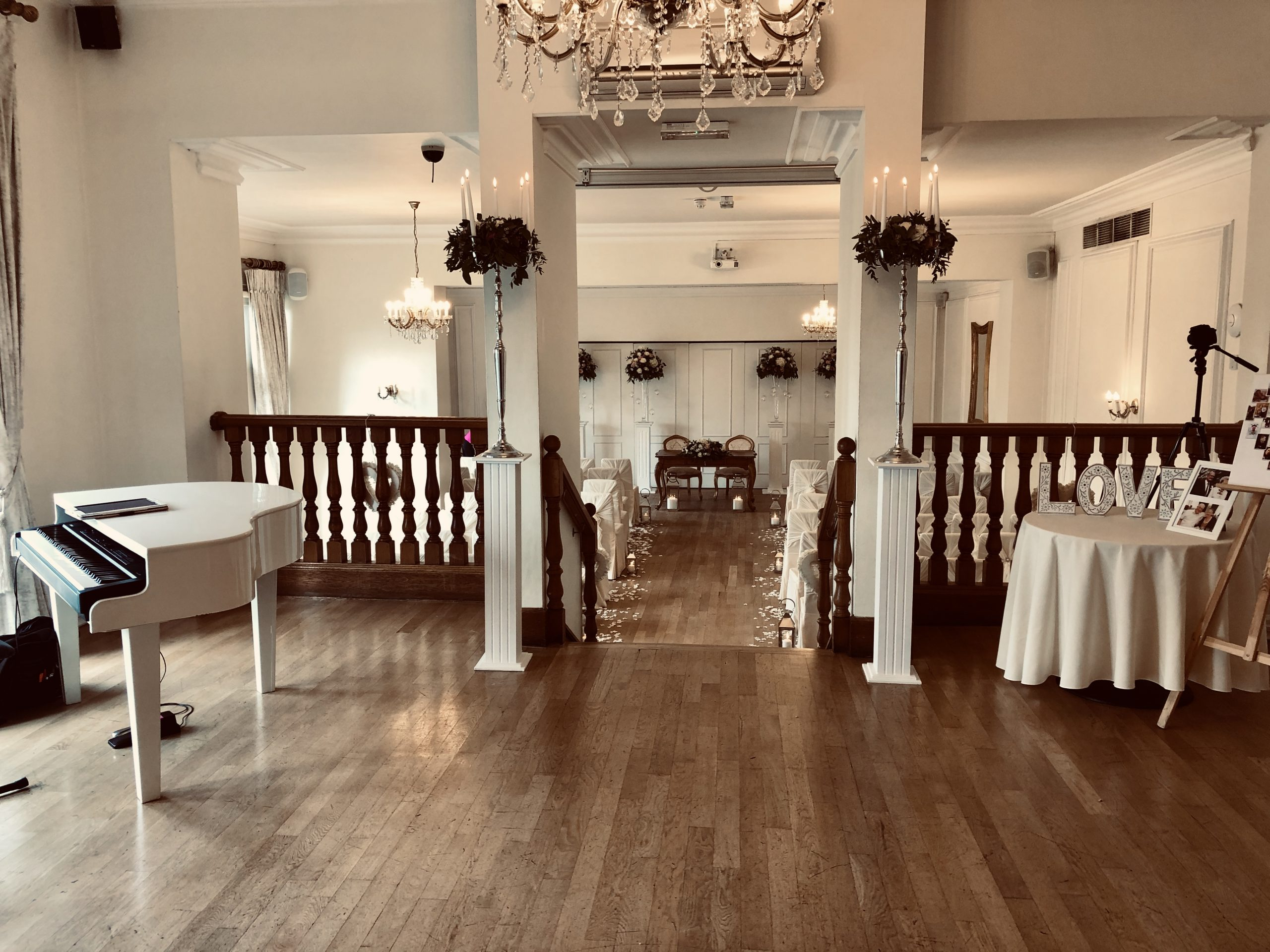Wedding piano at West Tower Live Piano ltd