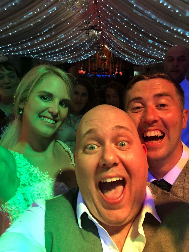 Chris and Gemma Ryan Bride and Groom at a PianoJam Wedding at Heaton House Farm