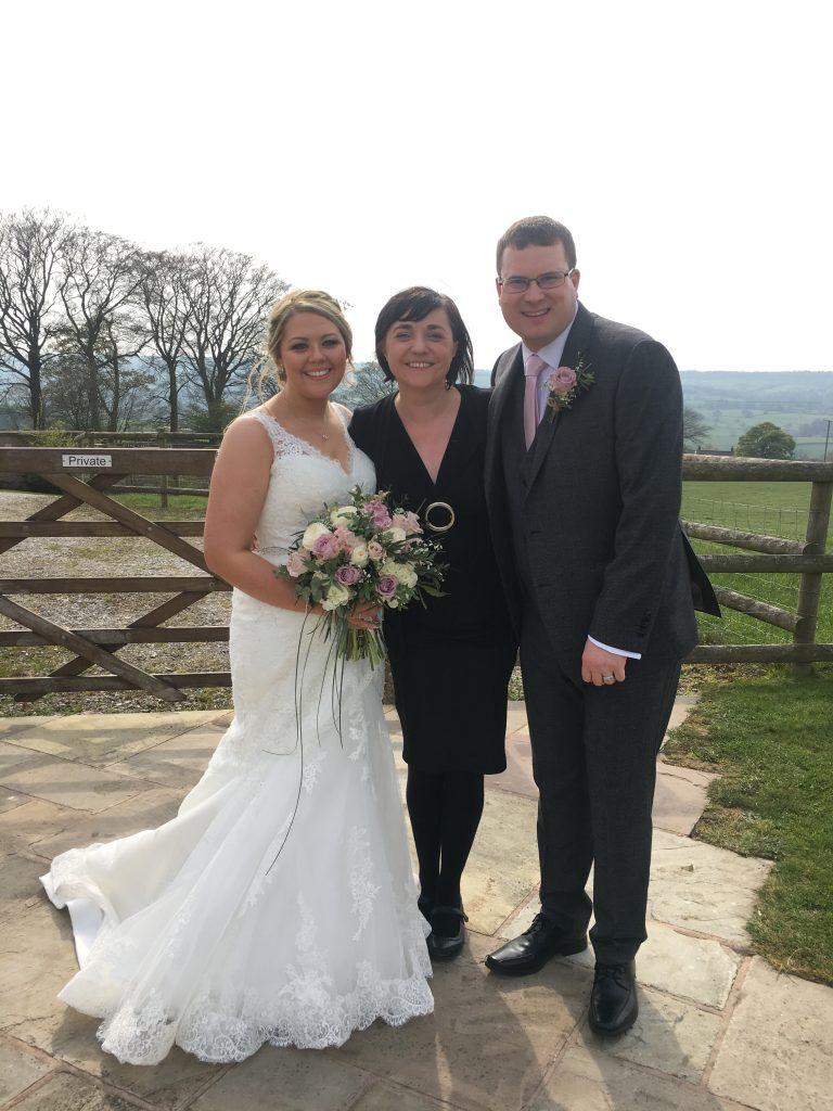 An outdoor wedding at Heaton House