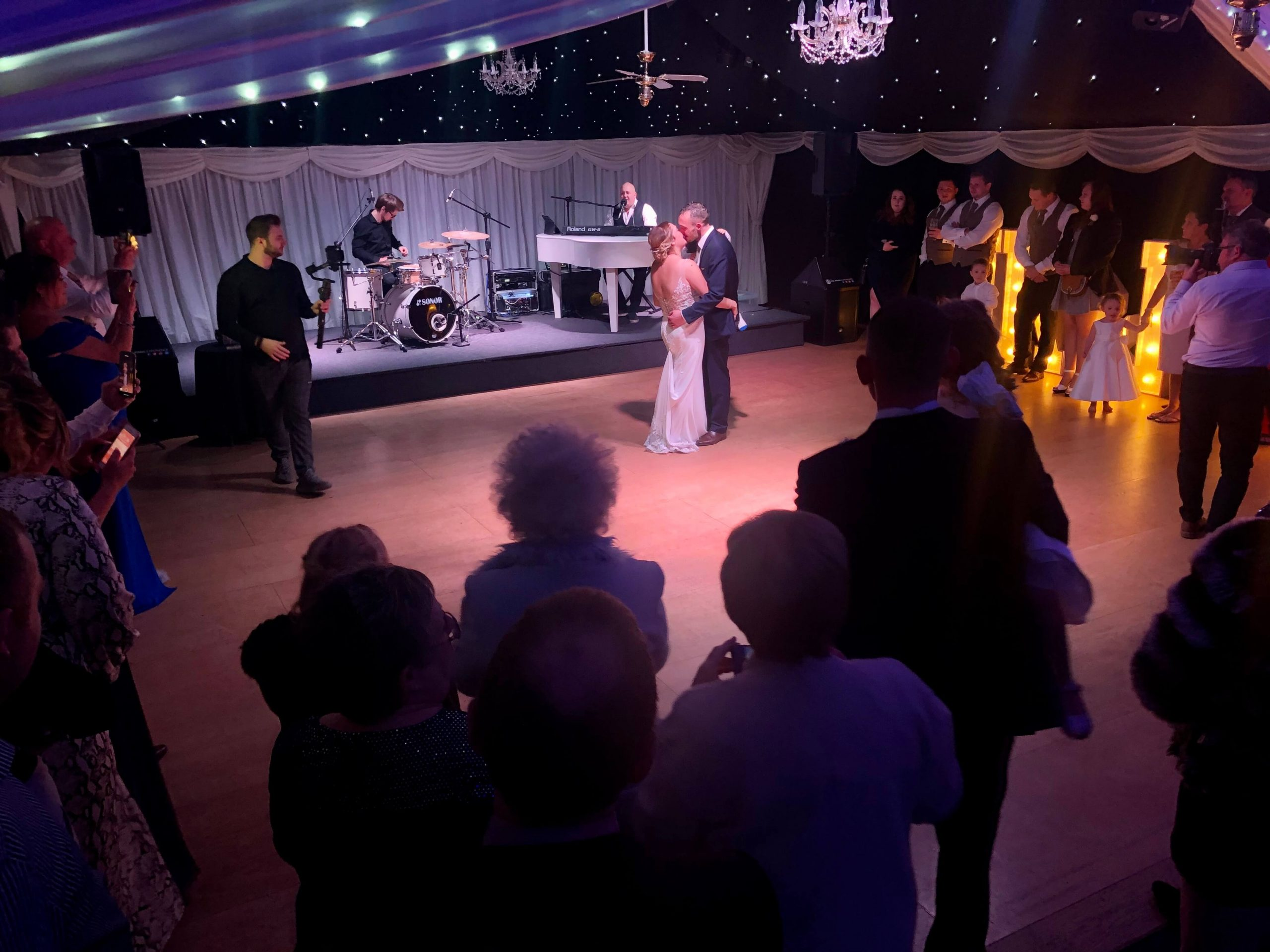 Mr and Mrs Hurlestone Wedding - First dance with PianoJam at Heaton House Farm