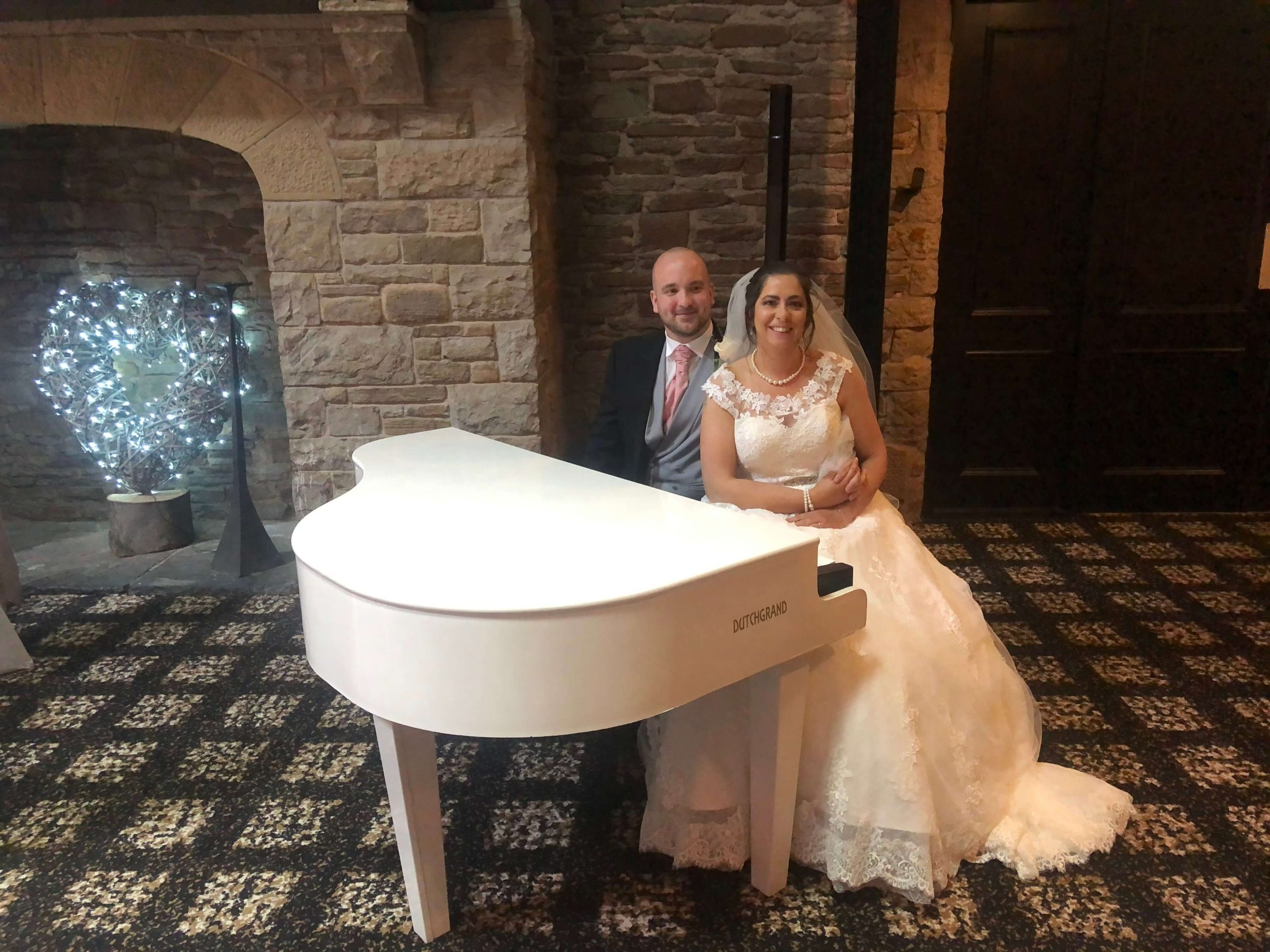 Liz Hendry played for the wedding of Mr and Mrs Gibson at Lancashire Manor