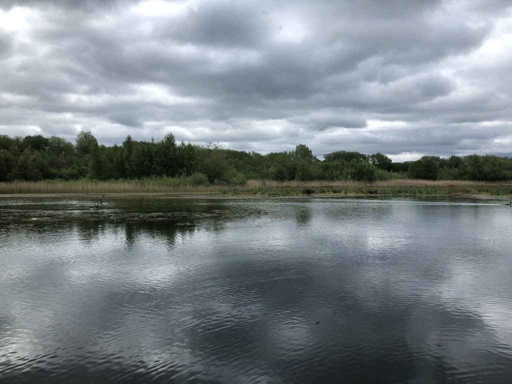 The view of the lake that you can enjoy when you are married at Brockholes